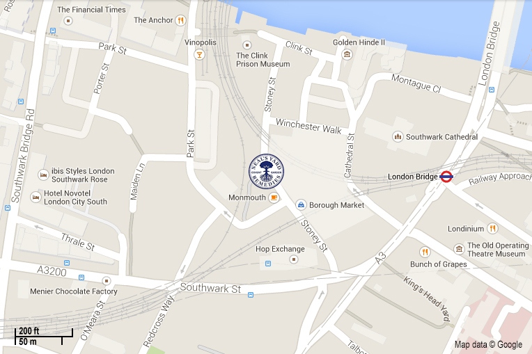 Neals Yard Remedies Borough Market map