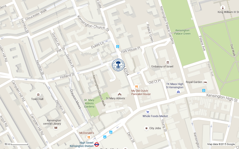 Neals Yard Remedies Kensington map